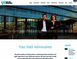 vanhallarbeidsrecht.nl screenshot
