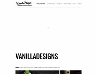 vanilladesigns.fi screenshot