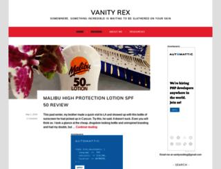 vanityrex.com screenshot