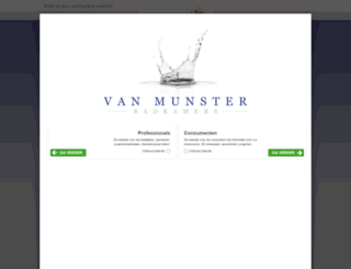 vanmunster.nl screenshot