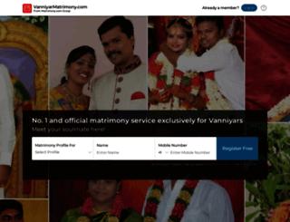 vanniyarmatrimony.com screenshot