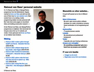 vanrees.org screenshot