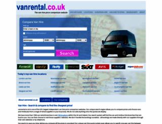 vanrental.co.uk screenshot