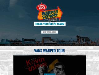 vanswarpedtour.com screenshot
