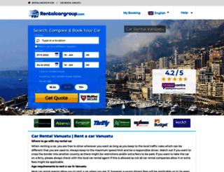 vanuatu.rentalcargroup.com screenshot