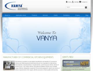 vanyakitchenequipments.com screenshot