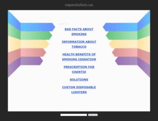 vapeolution.us screenshot