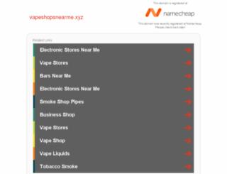 vapeshopsnearme.xyz screenshot