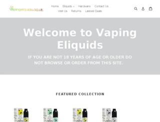 vapingeliquids.co.uk screenshot