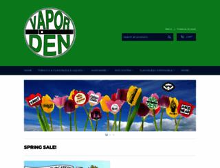 vaporden.com screenshot