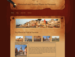 varanasitourism.weebly.com screenshot