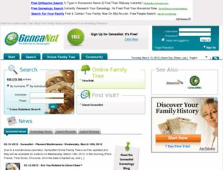 variantes.geneanet.org screenshot