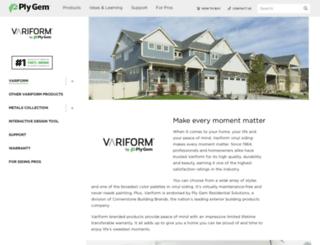 variform.plygem.com screenshot