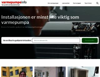 varmepumpeinfo.no screenshot