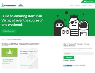 varna.startupweekend.org screenshot