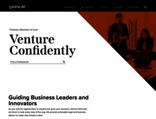 varnumlaw.com screenshot