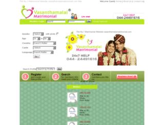 vasanthamalaimatrimonial.com screenshot