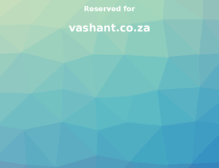 vashant.co.za screenshot