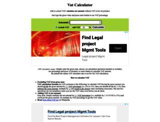 vatcalconline.com screenshot