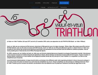 vaulx-en-velin-triathlon.org screenshot