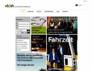 vbsh.ch screenshot