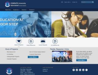 vcomsats.edu.pk screenshot