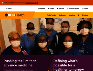 vcuhealth.org screenshot