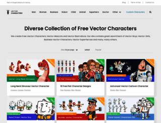 vectorcharacters.net screenshot