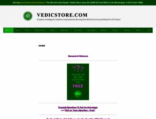 vedicstore.com screenshot
