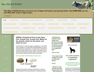 veganwolf.com screenshot