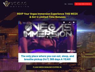 vegasimmersion.com screenshot