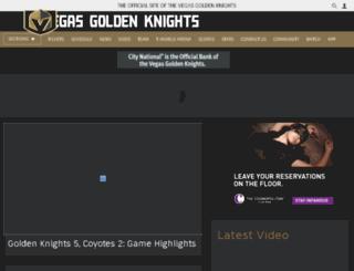 vegaswantshockey.com screenshot