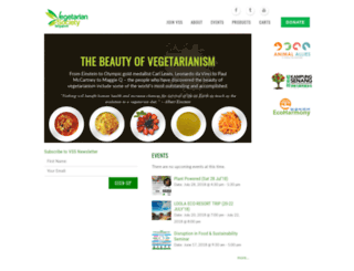 vegetarian-society.org screenshot