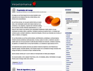 vegetomania.com screenshot