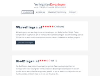 veilingsiteservaringen.nl screenshot