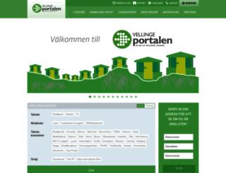 vellingeportalen.se screenshot
