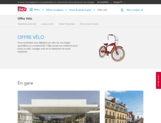 velo.sncf.com screenshot