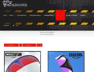 velocityparagliders.com screenshot