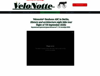 velonotte.com screenshot