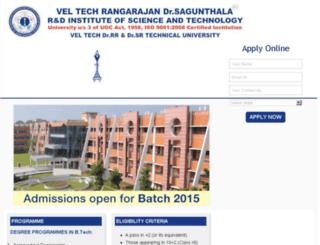 veltech.careers360.com screenshot