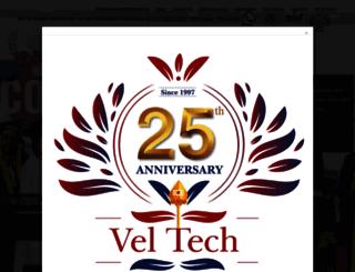 veltechuniv.edu.in screenshot