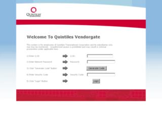 vendorgate-edc.quintiles.com screenshot