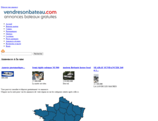 vendresonbateau.com screenshot