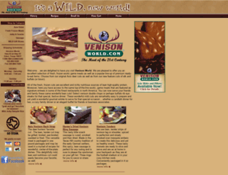 venisonworld.com screenshot