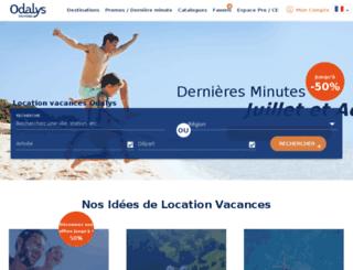 vente.odalys-vacances.com screenshot