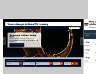veranstaltung-baden-wuerttemberg.de screenshot