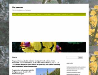 verbascum.org screenshot