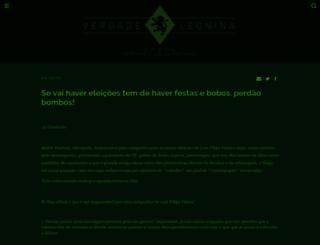 verdadeleonina.blogs.sapo.pt screenshot