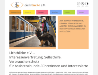 verein-lichtblicke.de screenshot