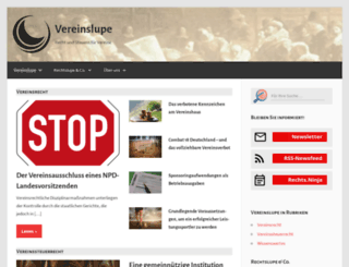 vereinslupe.de screenshot